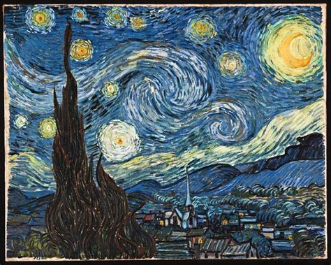 2018 daily diary gogh the starry january 2018 december 2018 lined one page per day journal books vincent gogh and faith