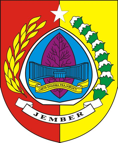 logo kabupaten jember kumpulan logo indonesia