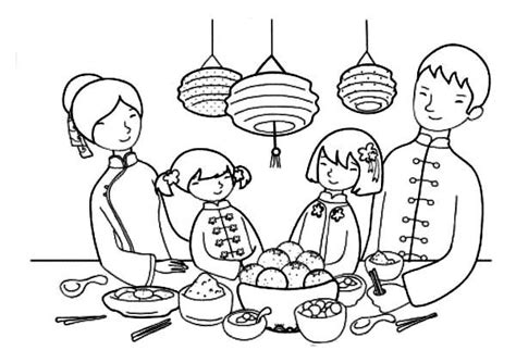 chinese family coloring page chinese family coloring page coloring pages