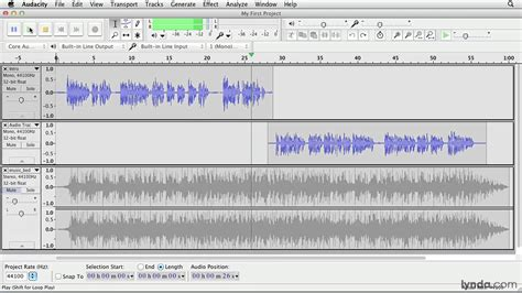 tutorial video audacity audacity tutorial making selections lynda com youtube