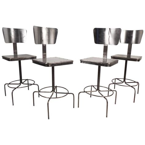 Metal Bar Stools Vintage by Vintage Industrial Metal Bar Stool For Sale At 1stdibs