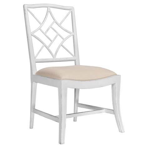 lombard regency white rustic dining chair