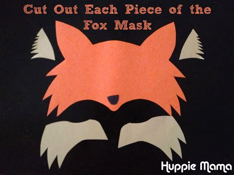 How To Make A Fox Mask Out Of Paper - cut out fox mask carrie