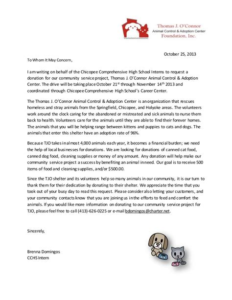 What Should A Community Service Letter Say Community Service Letter 2 Fixed
