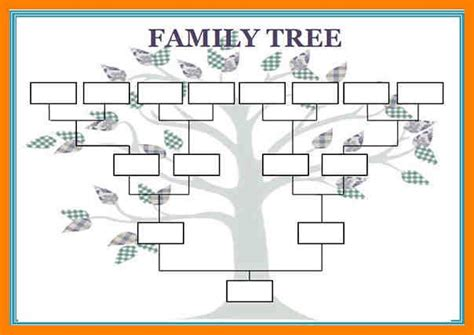family tree template print newhairstylesformen2014 com 12 blank family tree template aplication format kids