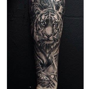 black and grey jungle tattoo try a tyger tyger burning bright beautiful grey and a
