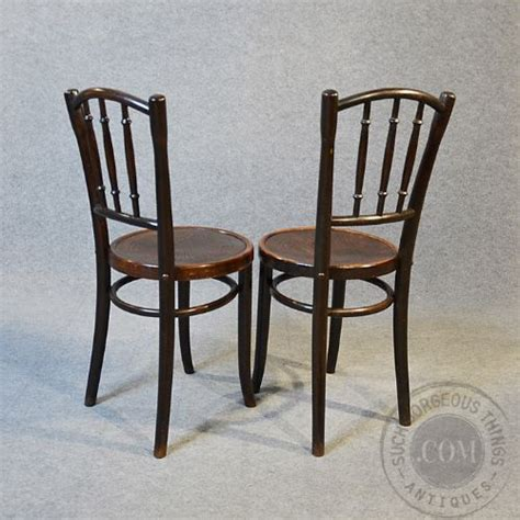 Deco Kitchen Chairs by Deco Thonet Bentwood Pair Of Kitchen Dining Cafe
