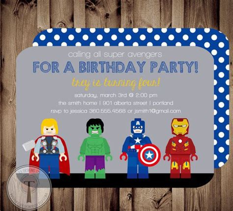 american themed party quotes avengers birthday invitation thor captain america hulk