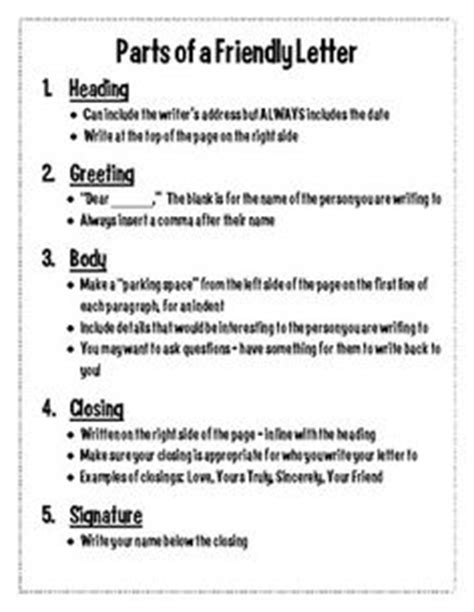 Parts Of A Business Letter Quiz Pdf 1000 Images About 4th Grade Ideas On 4th Grade Frolics Writing Ideas And 6 Traits