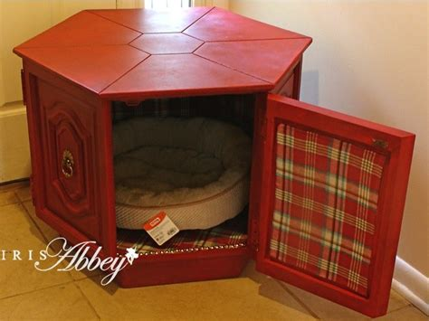 pet bed end table vintage end table converted to luxurious pet bed iris