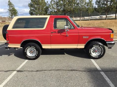 how cars run 1990 ford bronco regenerative braking 1990 ford bronco eddie bauer 4x4 95 372 miles no rust in great shape no reserve for sale ford
