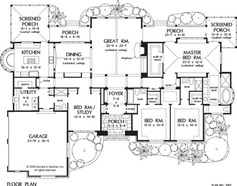One Level Home Plans by One Story Luxury Living Houseplansblog Dongardner