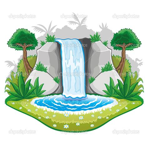 picture illustration waterfall clip art the cliparts