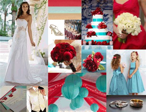 wedding colors weddingbee cherry aqua and chagne inspiration board updated
