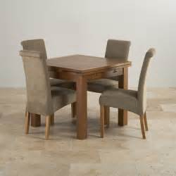 rustic dining set rustic dining set in real oak extending table 4 chairs