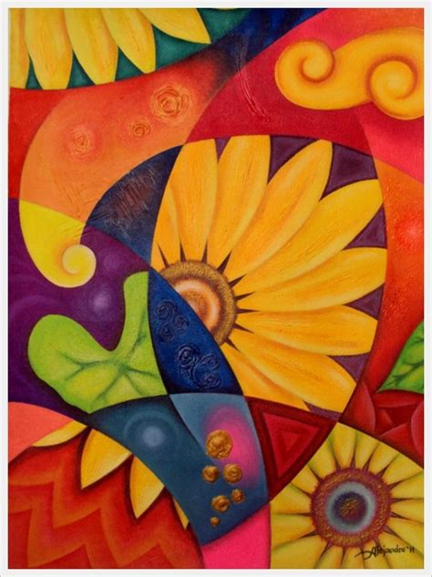 easy painting flower designs 30 creative abstract flower paintings page 3 of 3