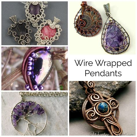 how to make wire wrapped jewelry 10 wire wrapped pendant patterns