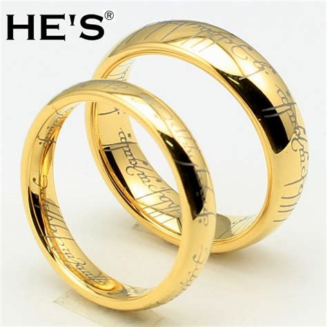 the lord of the rings high quality 6mm width gold tungsten