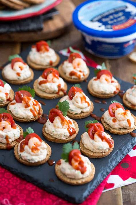 canape s goat cheese shrimp dip and canap 233 s the healthy foodie