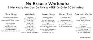 no excuses workouts you can do anywhere in 30 minutes