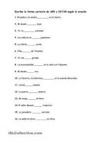 El Verbo Ser Worksheet Answers by Verbos Con Ser Y Estar Gratuito Ele Worksheets Ser Vs