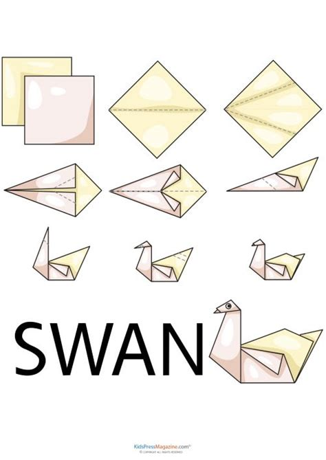 Origami Swan For Beginners - best 25 easy origami ideas on origami easy