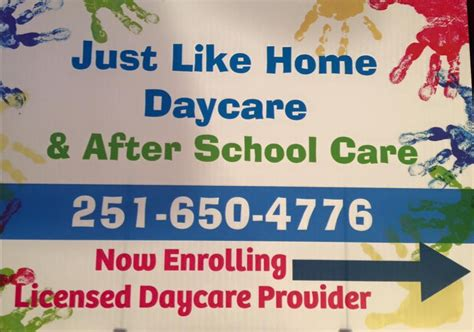 just like home daycare after school care child care