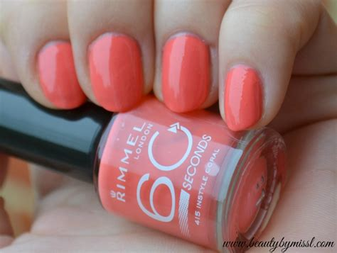best opi polish for 60 year olds rimmel 60 seconds nail polish 415 instyle coral beauty