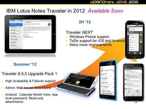 lotus notes mobile dd12 ibm lotus notes traveler and lotus mobile connect