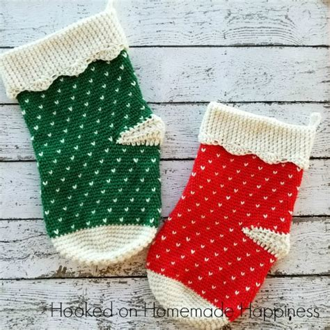 pattern for child s christmas stocking how to crochet a circle granny square hooked on homemade