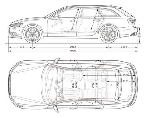 Audi A6 Abmessungen audi a6 avant 2012 cartype