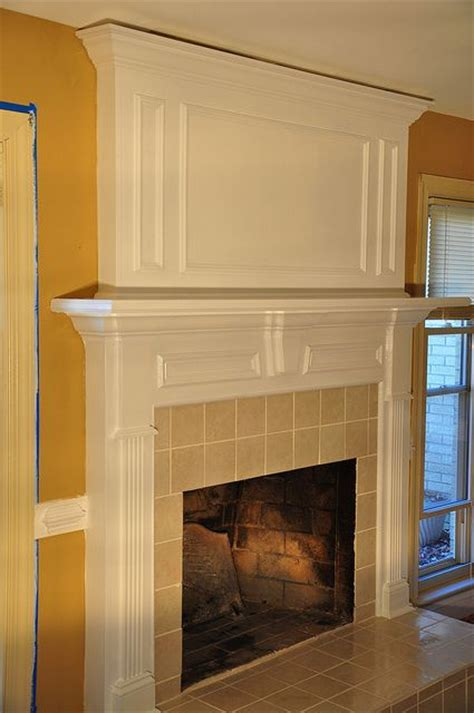 fireplace redo over brick floor to ceiling fireplace for