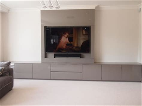 av cabinets and false chimney breast