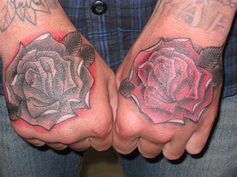 hand rose tattoo 21 bold flower tattoos on me now