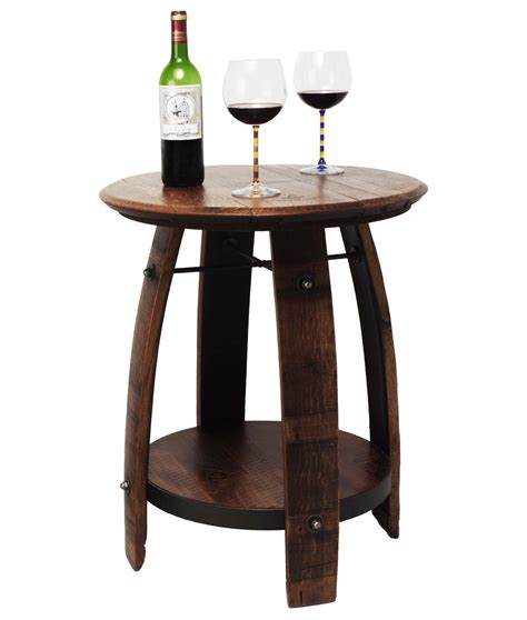 recycled wine barrel side table recycled wine barrel