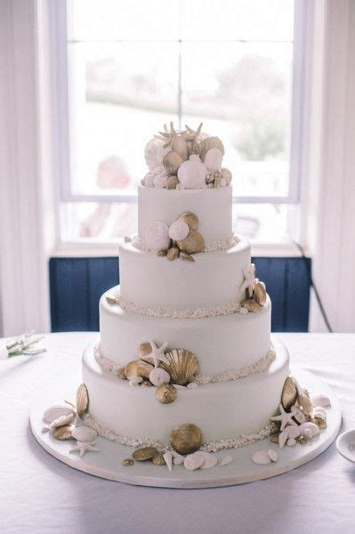 Chic Rhode Island Coast Wedding   Nautical Wedding Cakes