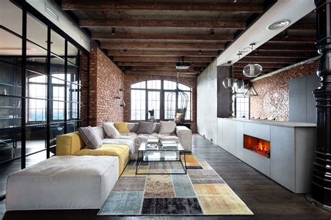 Decoration Mur Interieur Salon 2471 by интерьер квартиры в стиле лофт Lml