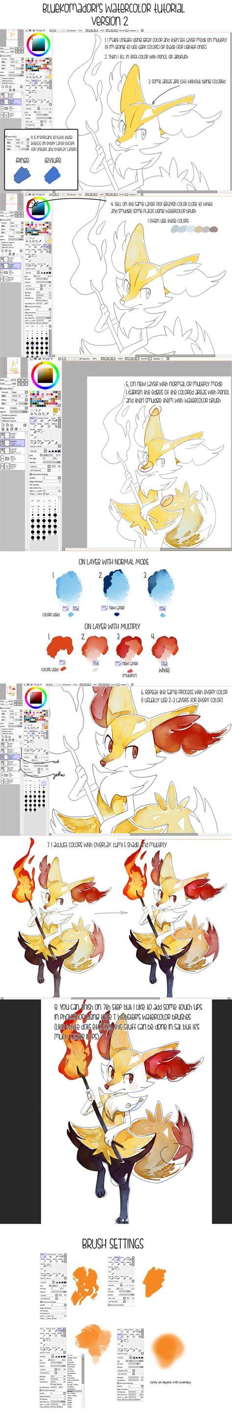 tutorial watercolor brushes rar 109 best sai brushes images on pinterest art tutorials
