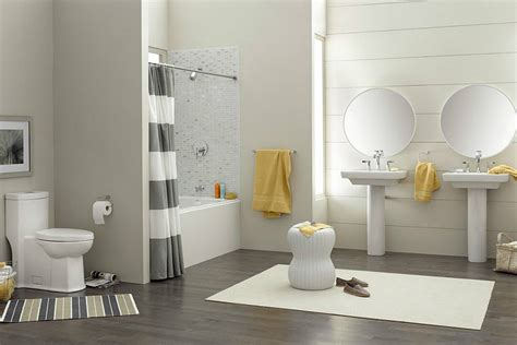 Ikea Falaren Keset Kamar Mandi Warna Abu Abu Medium Ukuran 50x80 Cm kamar mandi cerah dengan kolaborasi kuning dan abu abu parenting co id