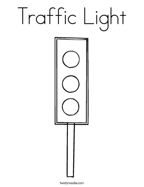 Outlined Traffic Signs Coloring Pages Traffic Light Template