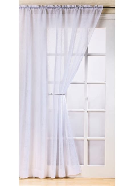 crushed voile curtains fiji crushed net curtain voile panel slot top white drop