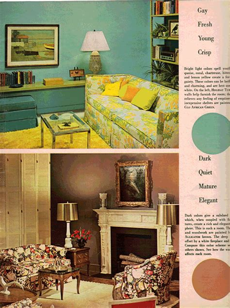 1960s decor living room trends from the 50s to now around the house