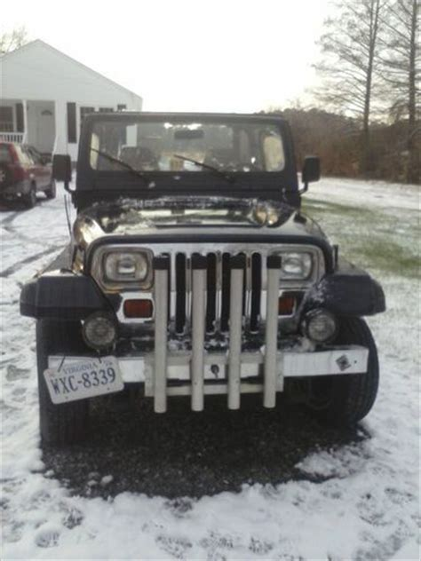 buy car manuals 1992 jeep wrangler user handbook find used jeep wrangler 1992 yj v 6 manual dark blue in chesapeake virginia united states for