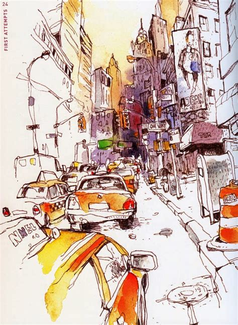 fueled by clouds coffee book review urban watercolor sketching