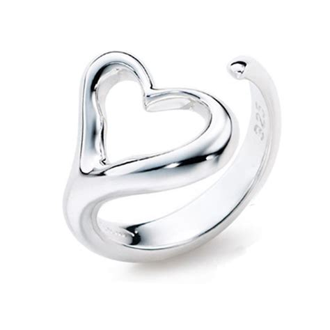 fashion simple silver band ring silver rings rings
