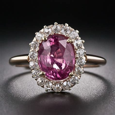 Pink Sapphire Safir pink sapphire ring in oval cut from gemone diamonds for sale