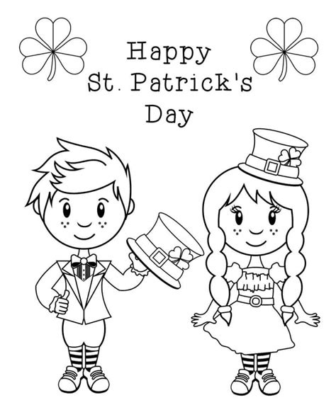 free printable st s day coloring pages