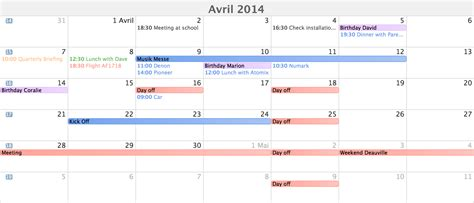 view web calendar view for xojo software design development by