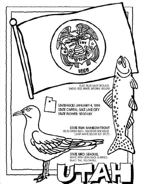 coloring pages utah utah coloring page crayola