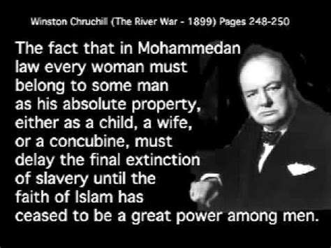 who said that the opening lines of great literature books winston churchill was against islam marxism and national